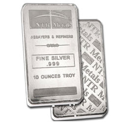 10 Oz NTR Silver Bar