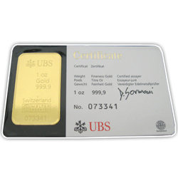 1 0z UBS Gold Bars