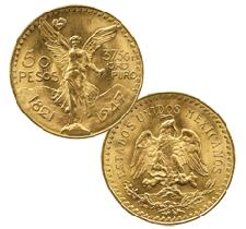 Mexican Pesos Gold Coins